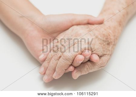 Help Concept,the Helping Hands For Elderly Home Care,Helping the needy