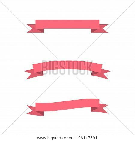 Pink Vector Ribbons