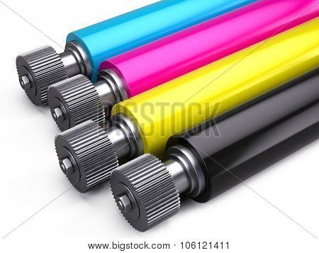 Print Machine - Printer CMYK Rollers