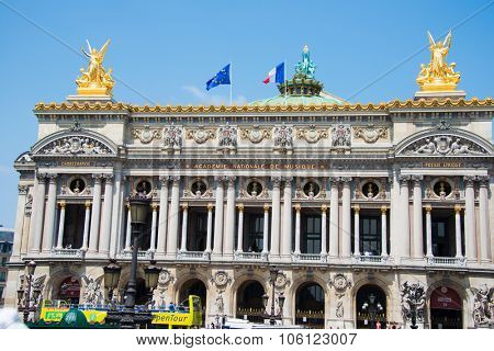 Paris - JULY 11, 2013: Paris Opera on July 11 in Paris, France. Paris opera is one of city attractions