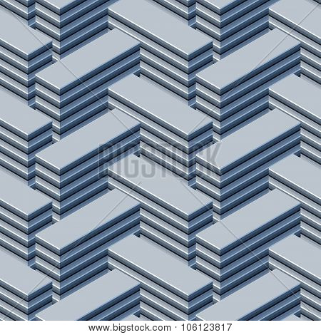 Endless array of tower blocks seamless pattern
