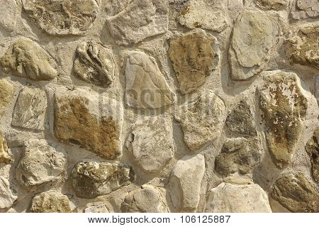 Tiled Stonewall From Flagstone  Rocks, Background Texture