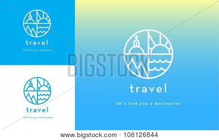 premium travel concept logo vector