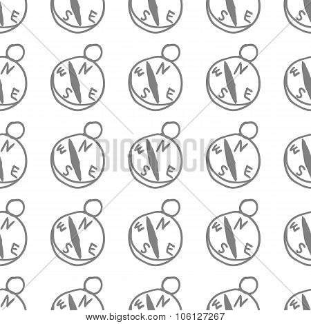 Seamless Pattern With Compass
