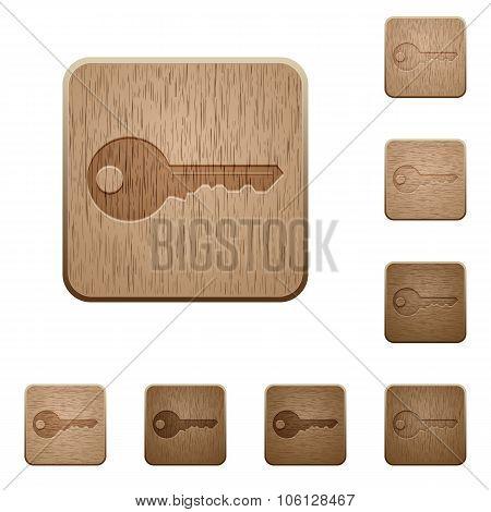 Key Wooden Buttons
