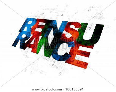 Insurance concept: Reinsurance on Digital background