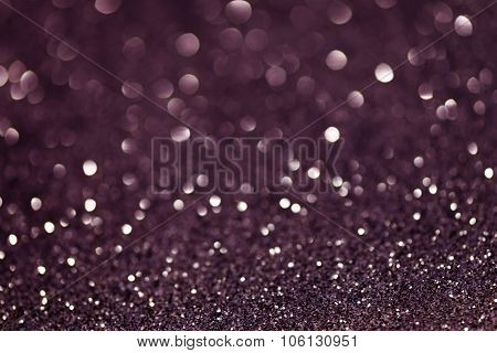 Violet Festive Christmas Abstract Bokeh Background, Shining Lights, Holiday Sparkling Atmosphere, Ce