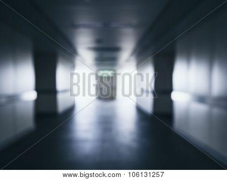 Blur Building Interior Corridor Perspective