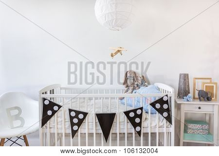 White Cot With Decoration