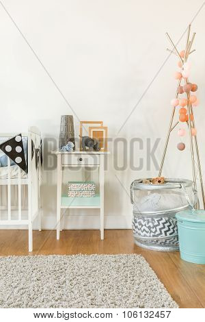 Crib And Small Table