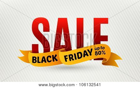 Black Friday Sale Design Template. Sale Banner. Vector Illustration