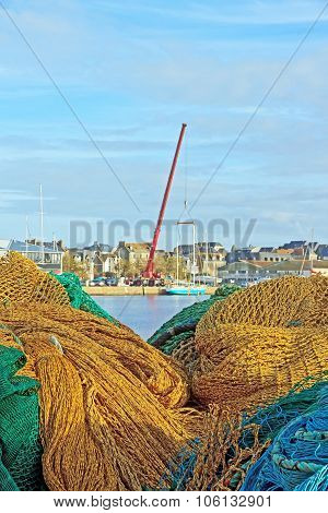 St Malo, between the threads of the fishing port (Brittany France)