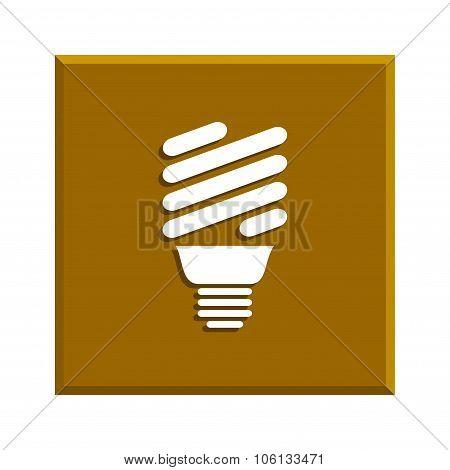 Vector Energy Saving Fluorescent Light Bulb Icon