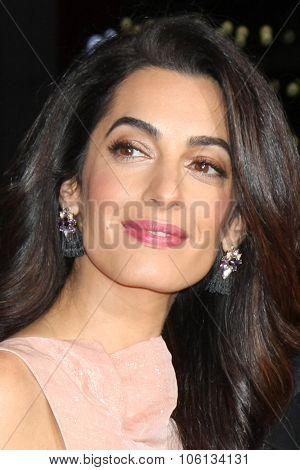 LOS ANGELES - OCT 26:  Amal Alamuddin Clooney at the
