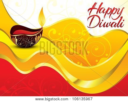 Artistic Red Diwali Background