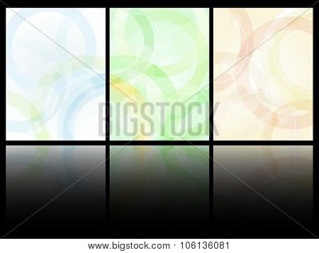 Simple abstract pattern card design vector template.