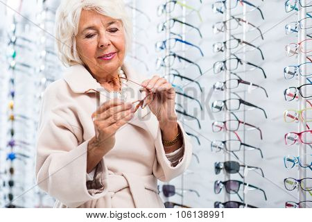 Shopping In Optician Store