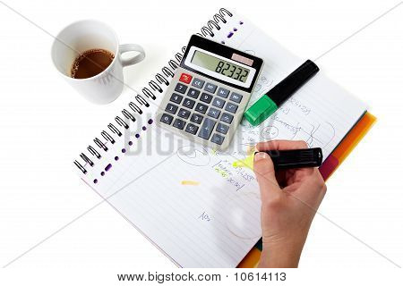 Business Calculating Hand