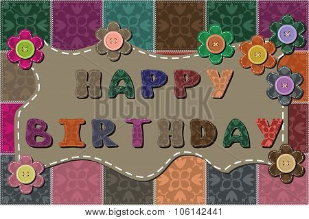 happy birthday dedication decor card