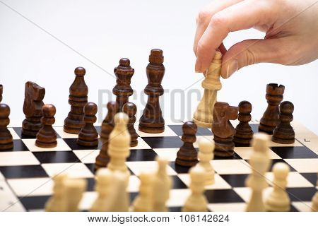 The Chess Game And A Hand