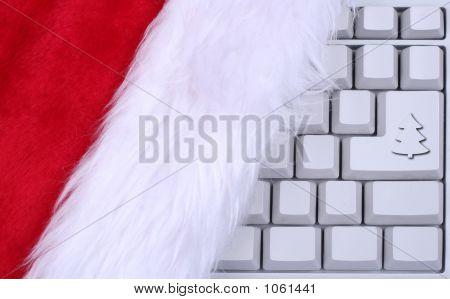 Sombrero de Santa en un teclado