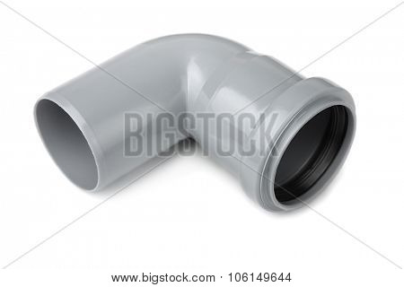 PVC piipe connector isolated on white