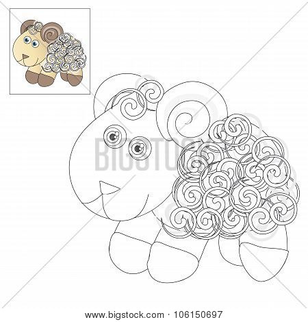 Picture To Color - Lamb.