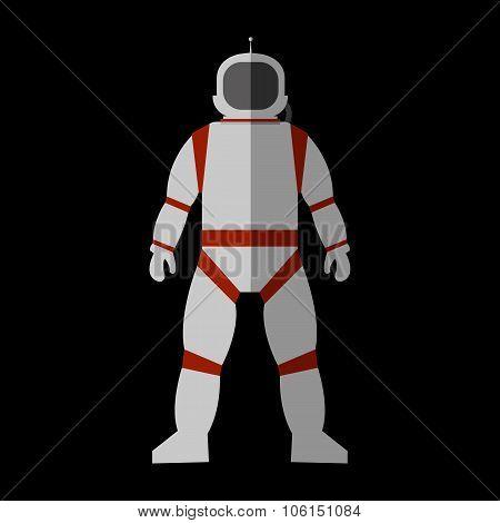Cosmonaut flat icon