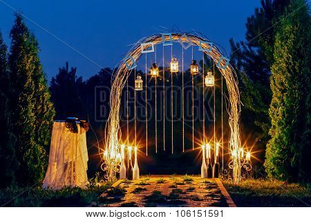Night wedding arch