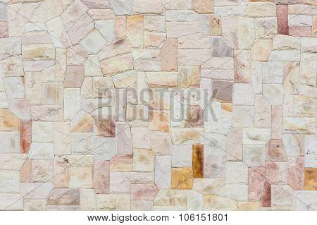 Irregularly Stones Wall Surface