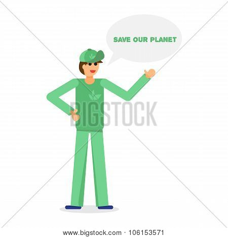 Green Activist And Ecology
