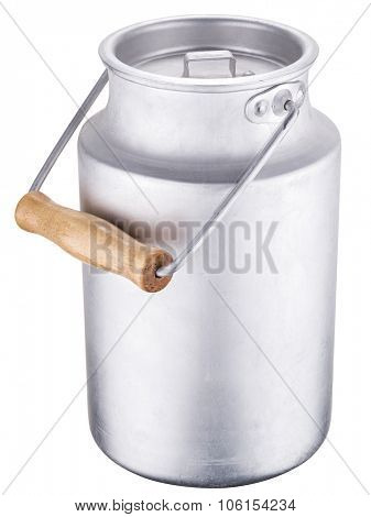 Milk can. File contains clipping paths.