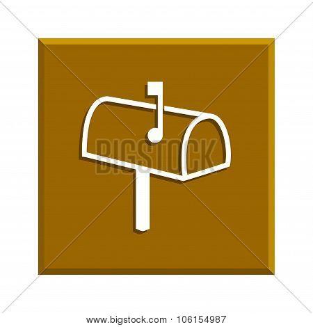 Mailbox Icon. Flat Design Style.