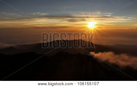 Sunset View From Mt.rinjani-lombok,indonesia,asia