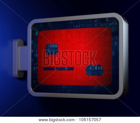 Currency concept: Credit Card on billboard background
