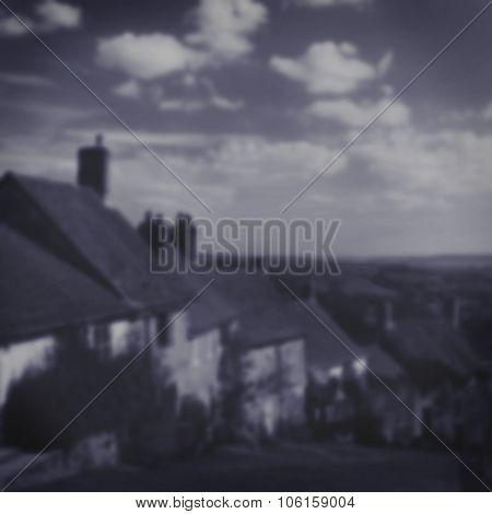 Quintessential English Landmark Traditional Village Concept Blurred