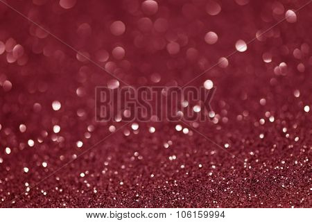 Pink Festive Christmas Abstract Bokeh Background, Shining Lights, Holiday Sparkling Atmosphere
