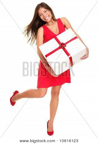 Valentines Gift Woman On White Background