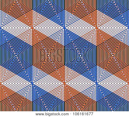 Geometric Seamless Pattern, Endless Colorful Transparent Vector Regular Background. Abstract Coverin