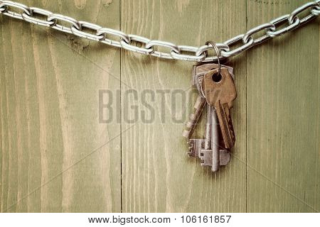 Keys Hanging On Chain