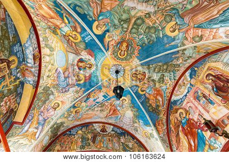 MOSCOW, RUSSIA - MARCH 9, 2014: Interior of the temple of the Annunciation, which was constructed in
