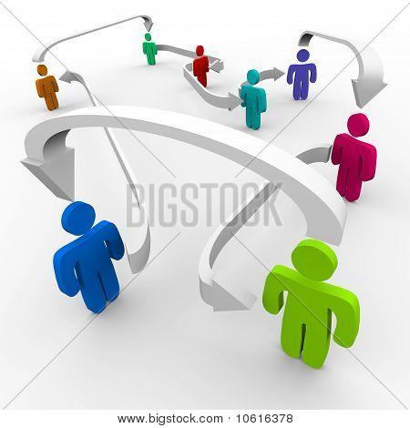 Conectar personas en red