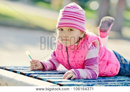 Toddler Girl In The Park