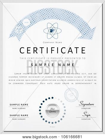 Certificate Border Template With Eco Energy Elements in Vector
