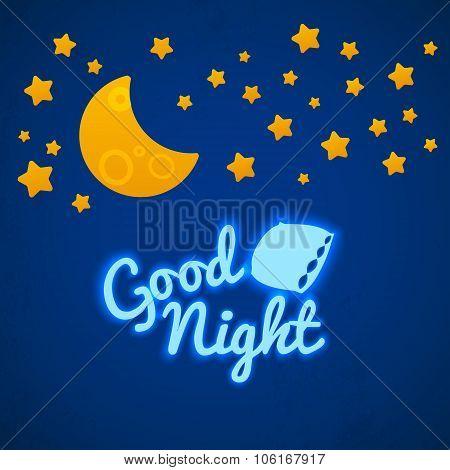 Good Night Bed Time Illustration.