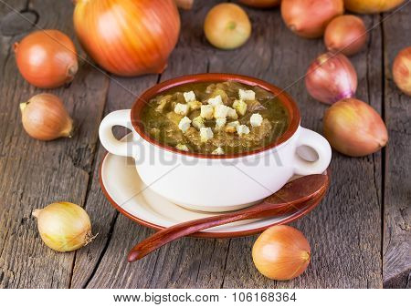 Onions Soup In A Plate
