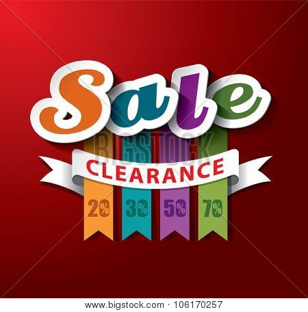 SALE Clearance Vector Design