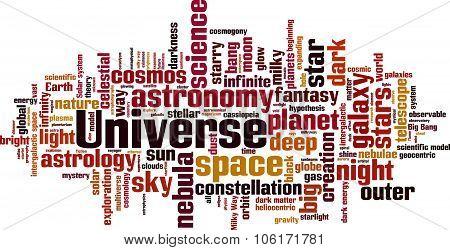 Universe History Word Cloud