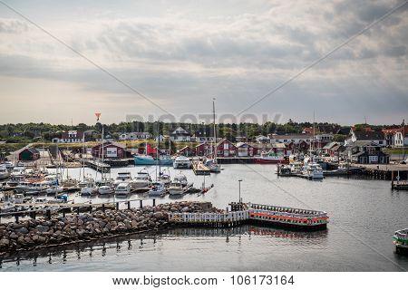 Læsø Harbor In Denmark