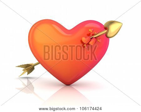 Abstract Heart And Arrow